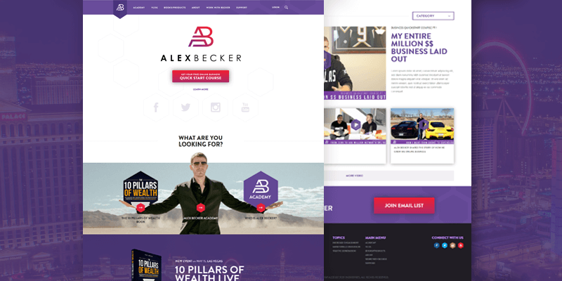 Alex Becker personal website development