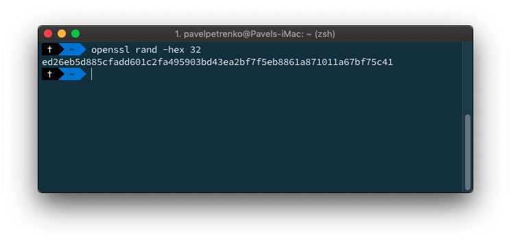 create a random string, which will be used as MAILBOX_HTTP_PASSWORD