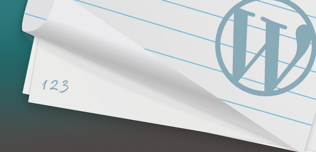 WordPress Numeric Pagination Without Plugin